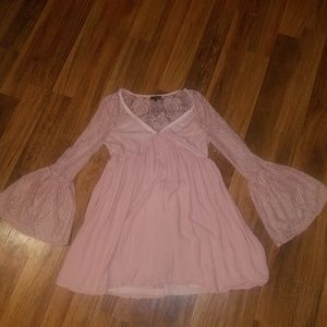 S boutique pink lace top/dress